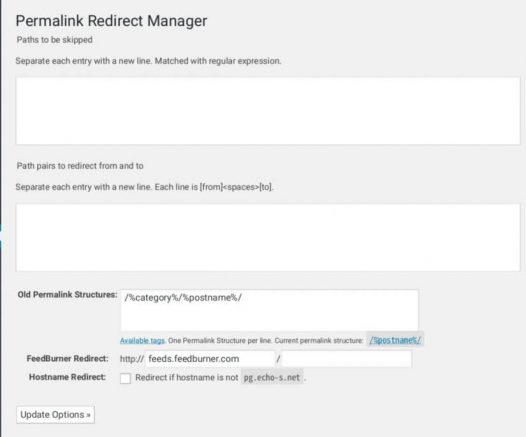 Permalink Redirect設定画面 - 20191007 211719 - 【WordPress】パーマリンクからカテゴリ名を外して記事に301リダイレクトさせる(Permalink Redirect)